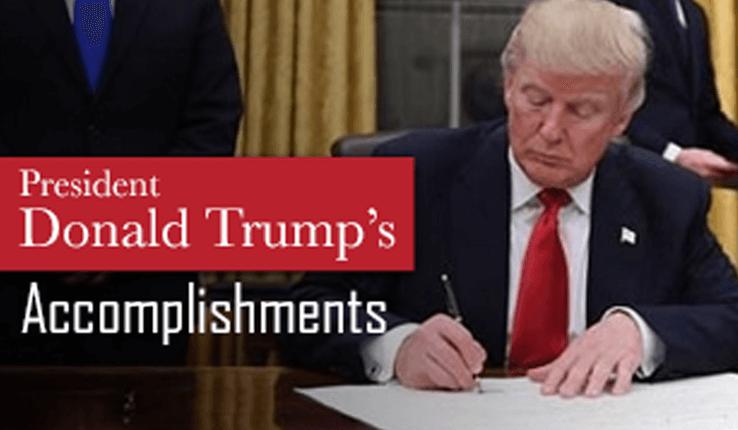 trump accomplishmnts