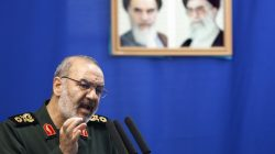 EDITORS' NOTE: Reuters and other foreign media are subject to Iranian restrictions on leaving the office to report, film or take pictures in Tehran. Hossein Salami, deputy head of Iran's Revolutionary Guard, speaks during Tehran's Friday prayers July 16, 2010. REUTERS/Morteza Nikoubazl
